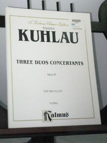 Kuhlau F - 3 Duos Concertants Op 87 for 2 Flutes